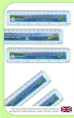 Recycled Drink Bottle Rulers with Logo