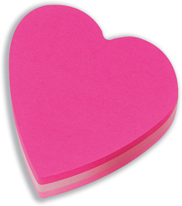 Heart Shaped Post it Notes
