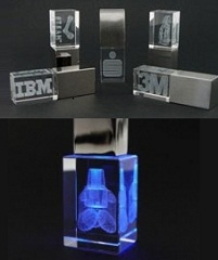 Promotional 3D Crystal USB Flash Drives