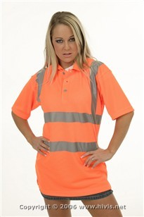 High Visibility Polo Shirt With Logo
