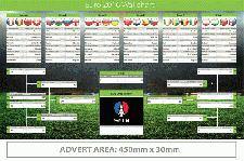 Football World Cup 2019 Russian Wall Chart Printed with Company Logo