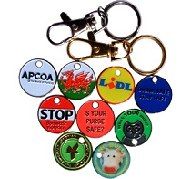 Corporate Trolley Coin Keyrings