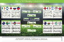 Promotional Rugby World Cup 2022 Wall Charts Logo Branded