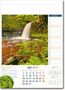 English Scenery calendar with logo