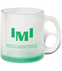 Frosted Glass Coffee Mug With Logo