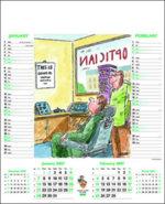 Comedy calendars with logo