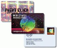 Personalised Holographic business cards