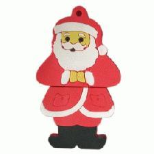 USB Father Christmas Flash Drives with Logo