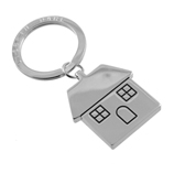 Home Keyring With Logo