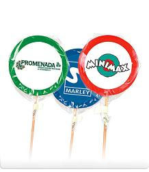 Extra large lollies with logo
