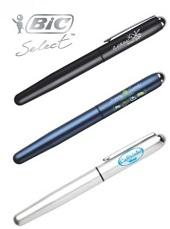 Personalised Bic Steel Roller Pens