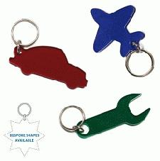 Personalised Shape Keyrings