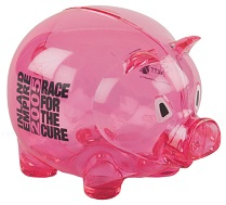 corporation branded piggy bank