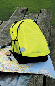High Visibility Rucksack With Logo