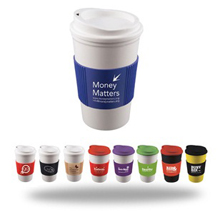 portable coffee cup with logo branding