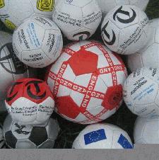 Footballs with Logo