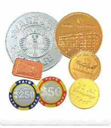 Personalised chocolate coins
