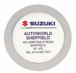 Round Personalised tax disc holder