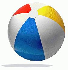 Beach Ball with Logo