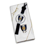 Tri-fold velour golf towel with logo