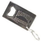 Personalised key ring bottle opener or corkscrew.