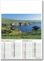 Welsh calendar with logo