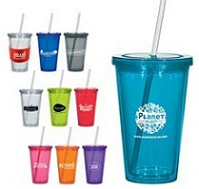 Screw Top Branded Stadium Cup