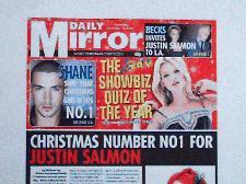 Justin Salmons Christmas No 1