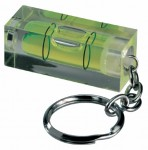 Spirit level keyring with logo