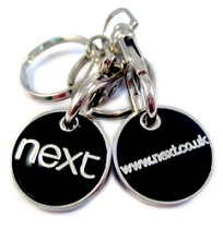 Logo Branded Trolley Coin Keyrings