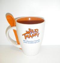 Spoon and Mug with Logo Branding