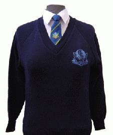 School Jumper With Embroidered Logo