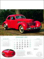 Collectors cars calendar 2019 with logo