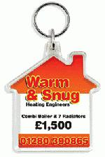 Personalised House shaped Keyring