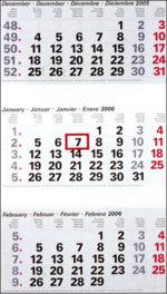 Tri Monthly Calendar