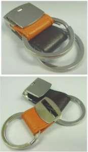 Personalised Leather Key Holders - Set of 2