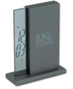 Personalised Graphite vertical digital clock