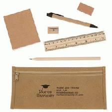 Logo Branded Eco Pencil Case Set